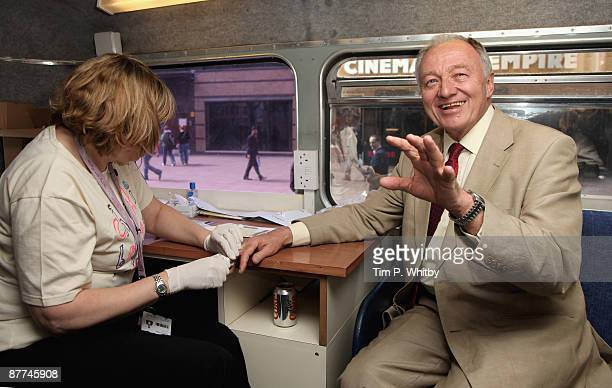 Ken Livingstone former Mayor of London gets tested for Hepatitis B and Hepatitis C to promote getting tested ahead of World Hepatitis Day 2009 on the...