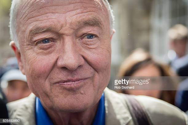 Ken Livingstone leaves Milbank Studios on April 28 2016 in London England Mr Livingstone has been suspended from Labour Party for comments made while...