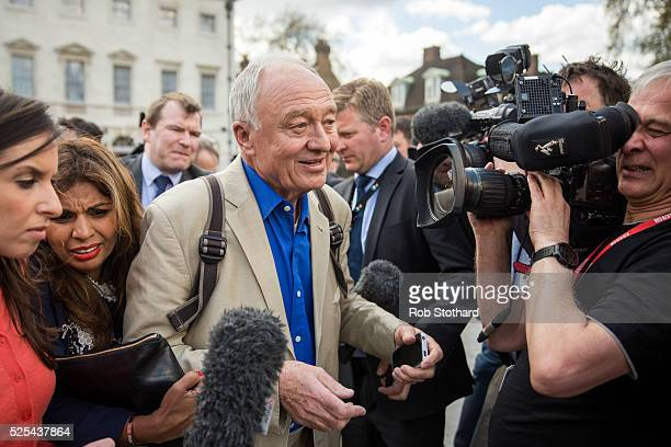 Ken Livingstone leaves Millbank Studios on April 28 2016 in London England Mr Livingstone has been suspended from Labour Party for comments made...