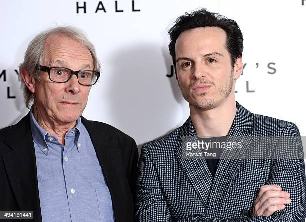 Ken Loach and Andrew Scott attend the UK premiere of 'Jimmy's Hall' held at BFI Southbank on May 28 2014 in London England