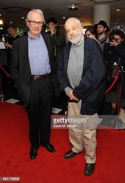 Ken Loach and Mike Leigh attends the UK Film Premiere of 'Jimmy's Hall' at BFI Southbank on May 28 2014 in London England
