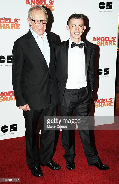 Ken Loach and Paul Brannigan attend the The Angels' Share UK premiere at Cineworld Glasgow on May 29 2012 in Glasgow Scotland