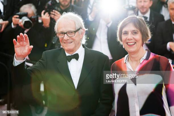 Ken Loach and Rebecca O'Brien attend the Closing Ceremony during the 69th annual Cannes Film Festival on May 22, 2016 in Cannes, France.