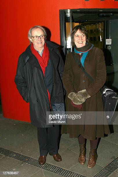 Ken Loach and Rebecca O'Brien attend the premiere of 'Route Irish' at FACT on March 7 2011 in Liverpool England