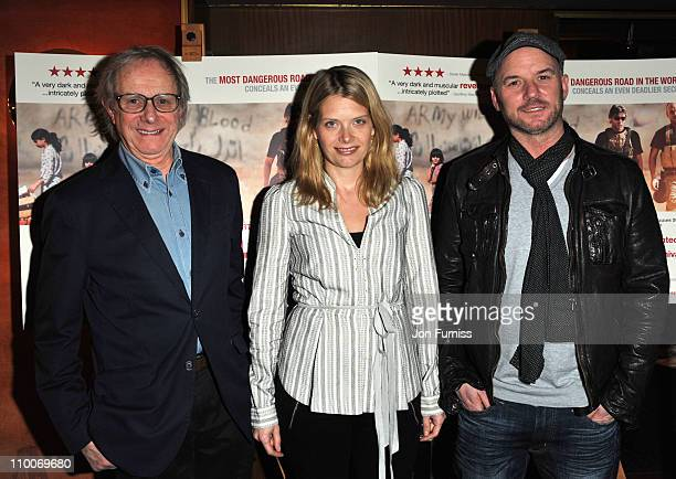 Ken Loach Andrea Lowe and Mark Womack attend the Route Irish Screening at the The Curzon Mayfair on March 14 2011 in London England