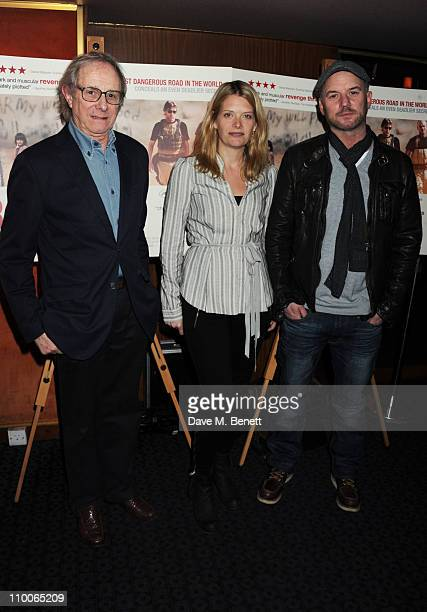 Ken Loach Andrea Lowe and Mark Womack attend the screening of 'Route Irish' at The Curzon Mayfair on March 14 2011 in London England