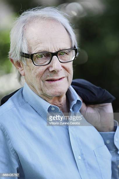 Ken Loach poses during the 69th Locarno Film Festival on August 11 2016 in Locarno Switzerland