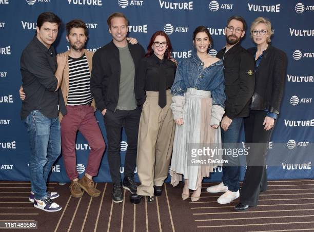 Ken Marino Adam Scott Ryan Hansen Megan Mullally Lizzy Caplan Martin Starr and Jane Lynch arrive at the Vulture Festival Los Angeles 2019 Day 2 at...