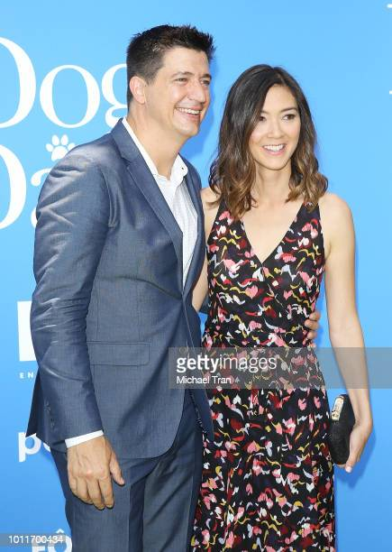 Ken Marino and Erica Oyama attend the Los Angeles premiere of LD Entertainment's 'Dog Days' held at Westfield Century City on August 5 2018 in...