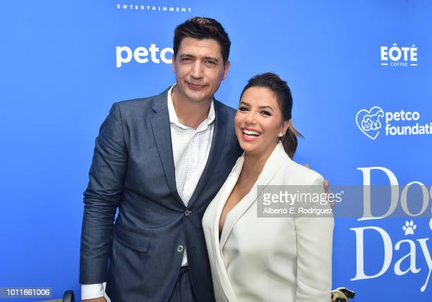 Ken Marino and Eva Longoria attend the preparty for the premiere of LD Entertainment's 'Dog Days' at Westfield Century City on August 5 2018 in...