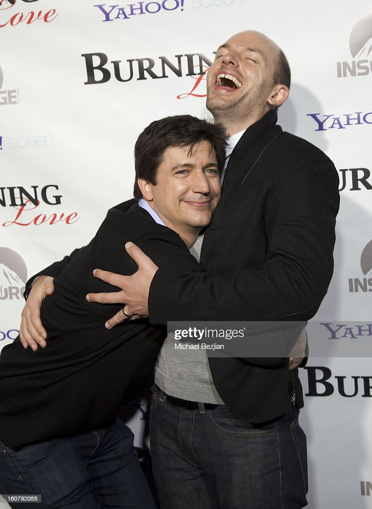Ken Marino and Paul Scheer attend the 'Burning Love' season 2 premiere at Paramount Theater on the Paramount Studios lot on February 5, 2013 in Hollywood, California.