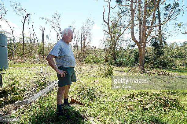 Ken McLachlan stands in the nursery paddock of his animal refuge property on February 23 2015 in Byfield Australia Ken and his partner Ivy Byrom have...