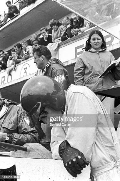 Ken Miles, 24 Hours of Le Mans, Le Mans, 19 June 1966. Ken Miles concentrating during the 1966 24 Hour of Le Mans race.