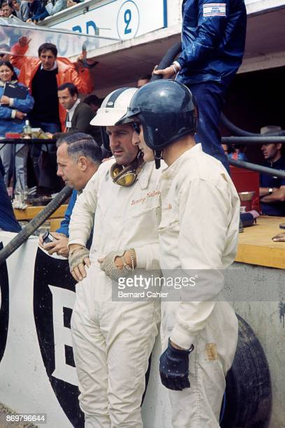 Ken Miles Denny Hulme 24 Hours of Le Mans Le Mans 19 June 1966 Denny Hulme with teammate Ken Miles in the 1966 24 Hours of Le Mans where they...