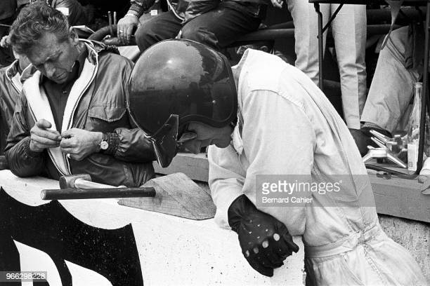 Ken Miles Phil Remington 24 Hours of Le Mans Le Mans 19 June 1966 Ken Miles concentrating during the 1966 24 Hour of Le Mans race