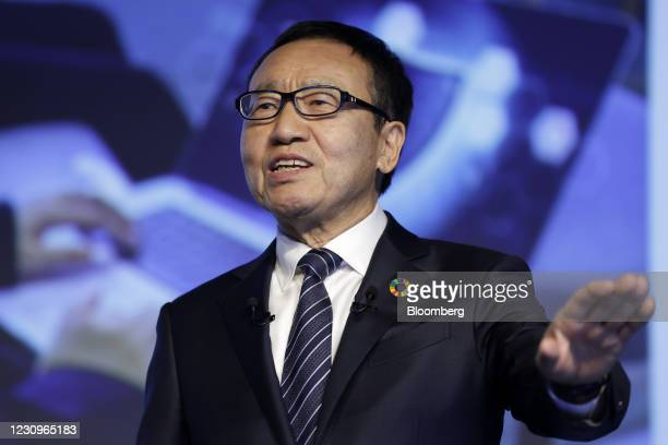 Ken Miyauchi, incoming chairman of SoftBank Corp., speaks during a news conference in Tokyo, Japan, on Thursday, Feb. 4, 2021. SoftBank Group Corp.s...