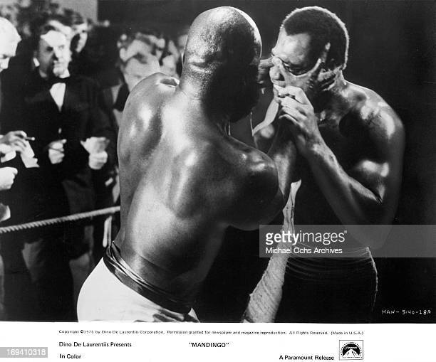 Ken Norton competes to the death with another trained fighter in a scene from the film 'Mandingo' 1975