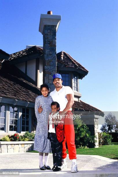 Ken Norton Ex Heavyweight Boxing Champ with his daughter Kenisha Eronda born 1976 and son Kene Jon born 1981 when he was married to Jacqueline Halton...