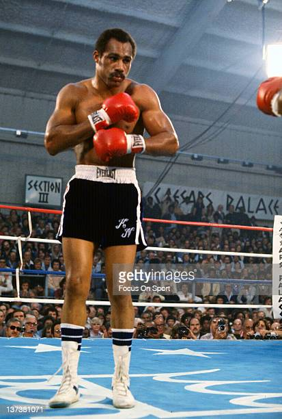 Ken Norton fights Jimmy Young in an Eliminator WBC heavyweight fight November 5 1977 at Caesar's Palace in Las Vegas Nevada Norton won the fight in a...