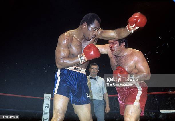Ken Norton is hit with a punch from Ron Stander during the fight at Capital Centre in Landover, Maryland. Ken Norton won by a TKO 5.