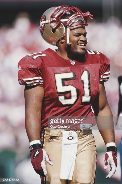 Ken Norton Jr Linebacker for the San Francisco 49ers during the National Football Conference West game against the Carolina Panthers on 17 October...