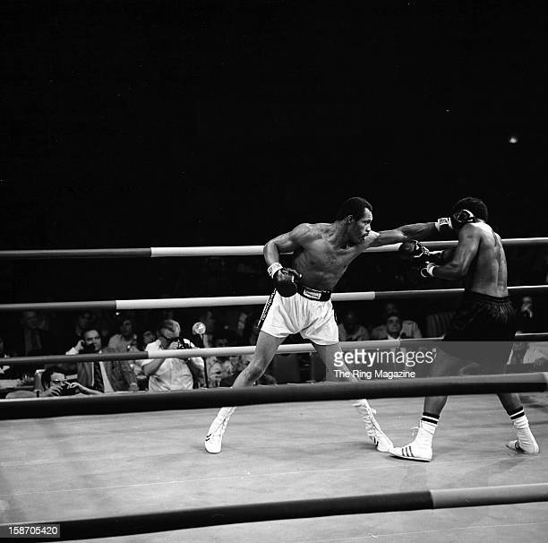 Ken Norton lands a left hook against Henry Clark during the fight at the Sahara Tahoe Hotel on November 211972 in Stateline Nevada Ken Norton won by...