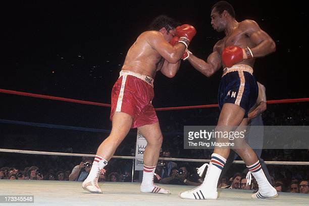 Ken Norton lands a punch against Ron Stander during the fight at Capital Centre in Landover Maryland Ken Norton won by a TKO 5