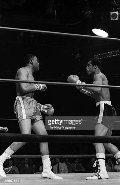 Ken Norton looks to take a swing at Steve Carter during a bout at the Valley Arena in April1971 in Los Angeles California