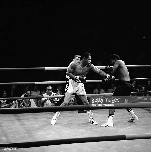Ken Norton throws a left hook against Henry Clark during the fight at the Sahara Tahoe Hotel on November 211972 in Stateline Nevada Ken Norton won by...
