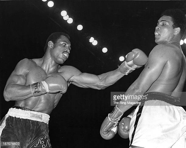 Ken Norton throws a left jab to Muhammad Ali during the fight at the Sports Arena on March 311973 in San Diego California Ken Norton won the NABF...