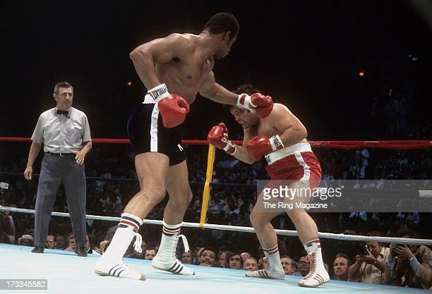 Ken Norton throws a punch against Ron Stander during the fight at Capital Centre in Landover Maryland Ken Norton won by a TKO 5