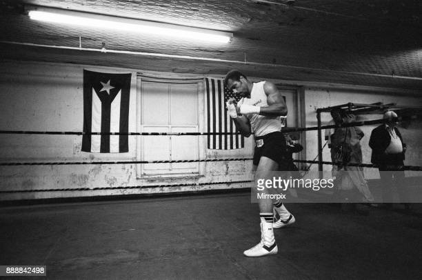 Ken Norton training ahead of his third fight with Muhammad Ali 23rd September 1976