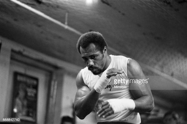 Ken Norton training ahead of his third fight with Muhammad Ali 26th September 1976