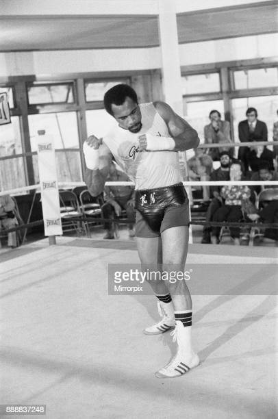 Ken Norton training at the Solar Gym ahead of his third title fight with Muhammad Ali 20th September 1976