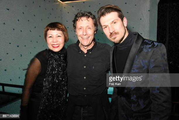 Ken Okada TV presenter Antoine de Maximy and Vincent Escrive attend the 'Le Temps Retrouve' Party 2 At Les Bains In Paris on December 21 2017 in...
