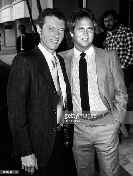 Ken Osmond and Tony Dow attend ABC TV Affiliates Party on May 9 1983 at the Century Plaza Hotel in Century City California