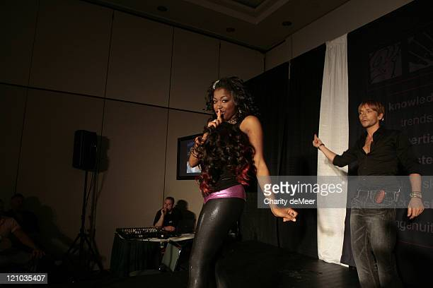 Ken Paves and Donielle Artese during hairdo / Ken Paves Class at Premiere Orlando 2007 at Premiere Orlando 2007 in Orlando Florida United States