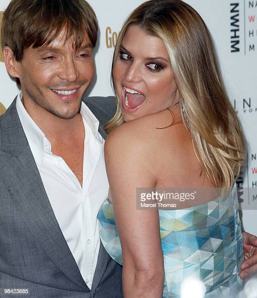 Ken Paves and Jessica Simpson attend Good Housekeeping's 125th Anniversary at New York City Center on April 12 2010 in New York New York