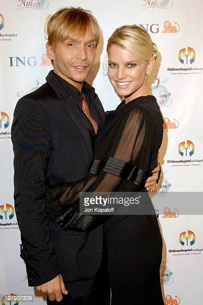 Ken Paves and Jessica Simpson during Childrens Hospital Los Angeles 2nd Noche de Ninos Gala Honoring Johnny Depp Arrivals at Beverly Hilton Hotel in...