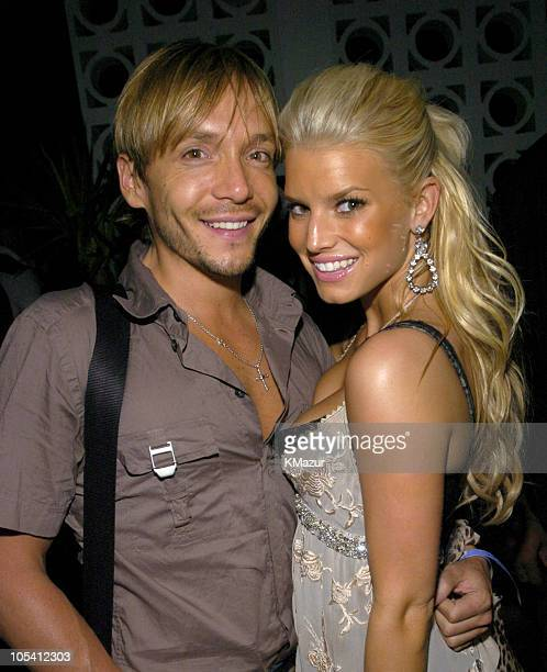 Ken Paves and Jessica Simpson during Jessica Simpson Reality Tour After Party June 18 2004 at PM in New York City New York United States