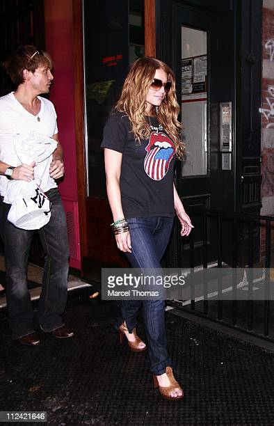 Ken Paves and Jessica Simpson during Jessica Simpson Sighting leaving Dos Caminos Resturant with Ken Paves May 212007 at Dos Caminos Resturant in New...