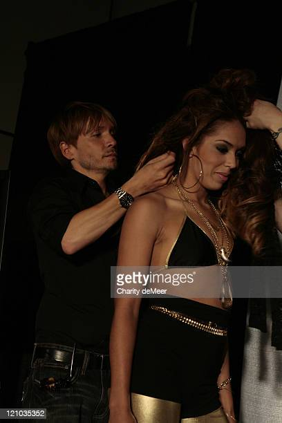 Ken Paves and Stephani Mosely during hairdo / Ken Paves Class at Premiere Orlando 2007 at Premiere Orlando 2007 in Orlando Florida United States