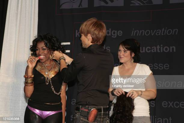 Ken Paves Donielle Artese and Nikole Fredericks during hairdo / Ken Paves Class at Premiere Orlando 2007 at Premiere Orlando 2007 in Orlando Florida...