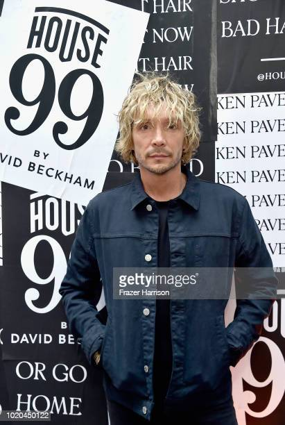 Ken Paves and team attend the House 99 by David Beckham party hosted by Ken Paves at his salon in West Hollywood on August 20 2018 in West Hollywood...