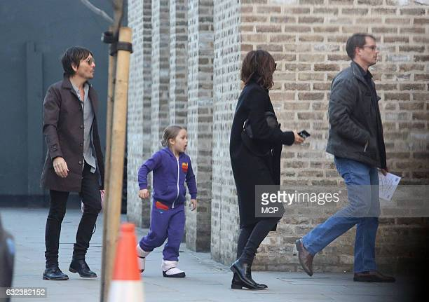 Ken Pavés Harper Beckham and Victoria Beckham sighting on January 21 2017 in London England