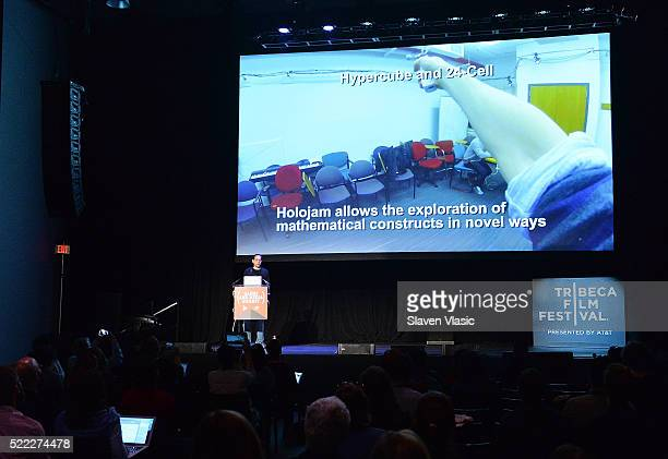 Ken Perlin attends Games For Change Games Media Summit 2016 Tribeca Film Festival at Spring Studios on April 18 2016 in New York City