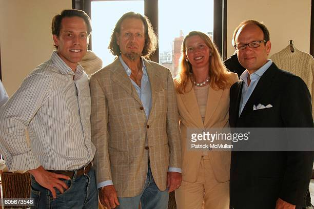 Ken Pilot Charles Martin Michelle Martin and Arnie Cohen attend The Launch of Martin Osa at Sky Studio on July 19 2006 in New York City
