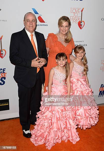 Ken Rickel Isabella Rickel Nancy Davis and Mariella Rickel attends the 20th Annual Race To Erase MS Gala Love To Erase MS at the Hyatt Regency...