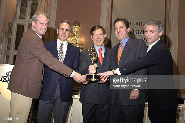 Ken Schanzer president of NBC Sports Ross Greenburg president of HBO Sports Peter Price president of NATAS George Bodenheimer president of ESPN Inc...