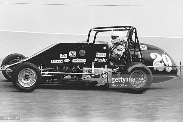 Ken Schrader at the wheel of Louis Seymour's USAC Silver Crown car during a race at Indianapolis Raceway Park Before becoming a star in NASCAR Cup...